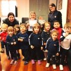 Alunos da Creche Nível III visitam o Prefeito