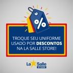 Campanha de desconto na La Salle Store