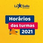 Horário das turmas 2021