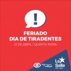 21/4: Feriado de Tiradentes