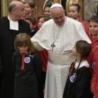 Papa Francisco e Lassalistas em encontro no Vaticano