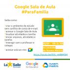 Live sobre o uso do Google Sala de Aula