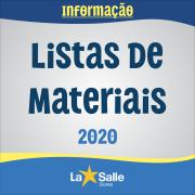 Disponíveis as Listas de Materiais para 2020