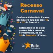 Recesso de Carnaval – Orientações Importantes