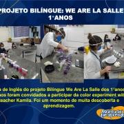 Projeto Bilíngue We Are La Salle