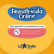 PRORROGADO Processo de Rematrícula Online 2021