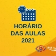 Horários das Aulas 2021