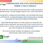 Informações Sala de Aula Google