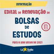 PRORROGADO - Renovação de Bolsa Assistencial 2021