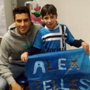 Visita do Jogador Alex Telles