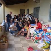 Entrega dos donativos no Orfanato.