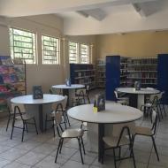 Biblioteca de livros e de leitura