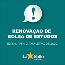 Edital de Renovação de Bolsas Assistenciais 2022