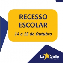 Recesso Escolar - Dia do Educador