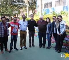 Visita dos irmãos Miguel Freitas e o Ex- Diretor Lui