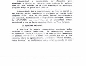 Depoimento do ex-aluno dorense Sr. Álvaro Paganotto